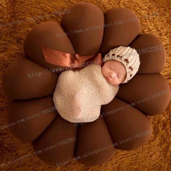 Newborn Fotografia cesta posando adereços Foto do bebê travesseiro Do Bebê fotografia backdrops Poser Rosquinha travesseiro 60*60 CM