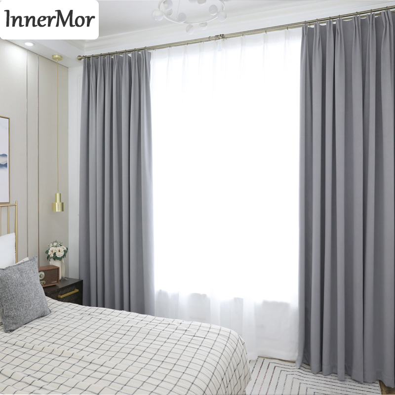 Innermor Solid Blackout Curtains For Living room High shading Thick curtains for bedroom Modern drapes for kitchen CustomizedInnermor Solid Blackout Curtains For Living room High shading Thick curtains for bedroom Modern drapes for kitchen Customized