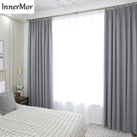 Innermor Solid Blackout Curtains For Living room High shading Thick curtains for bedroom Modern drapes for kitchen Customized