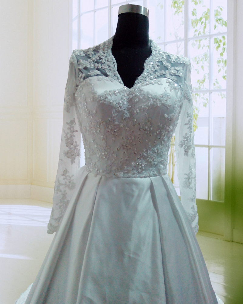 Vintage Princess Kate Wedding Dress Custom Made Zipper Back Beaded ...
