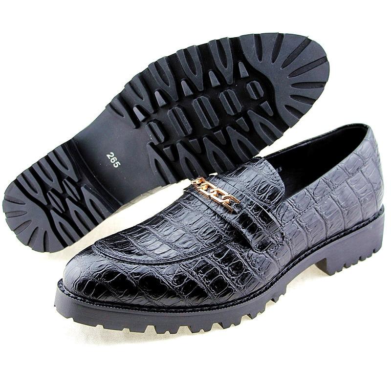 Couro Dos 4 Condução Homem Flats Mocassins Casual Crocodile Homens 1 model 2 Genuine Moda Grain model 3 Marca De model Sapatos Festa Model 8Pq8FwrBO