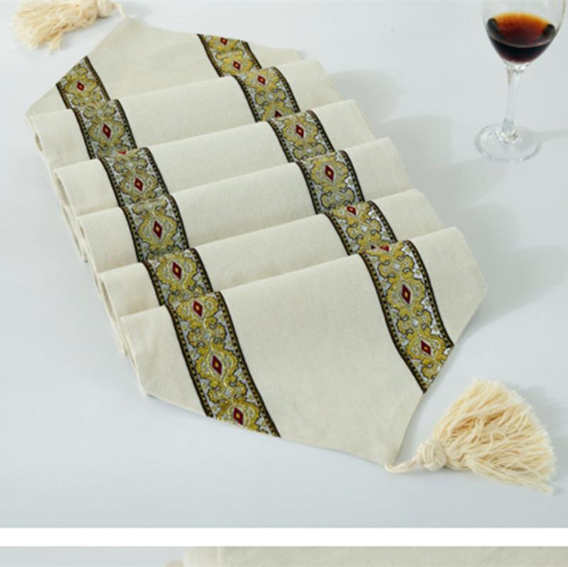 Minimalist Modern Style Table Runner. Linen Material