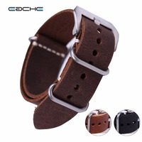 Wholesales High Quality Vintage Genuine Leather Zulu Watch Straps Watchband For Military Watch 20mm 22mm 24mm