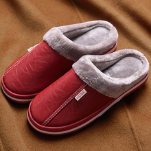 Slippers women indoor waterproof 2019 hot winter slippers women anti dirty plush shoes