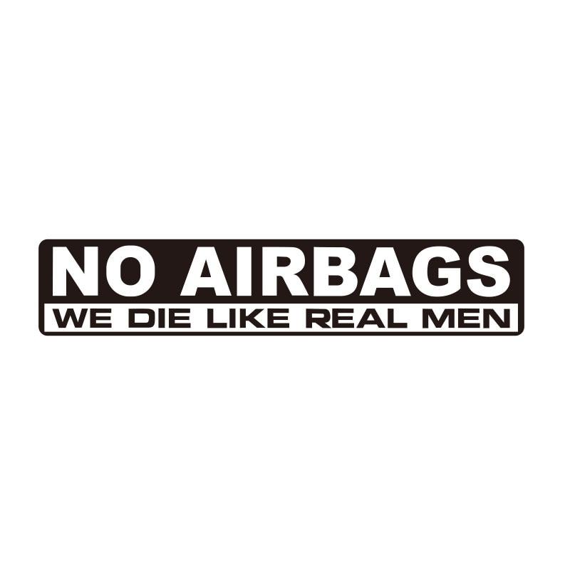15cmx3cm NO AIRBAGS Sticker Decal Vinyl JDM Funny Bumper Car Truck Humor Window Drift 4x4 Da-0673#
