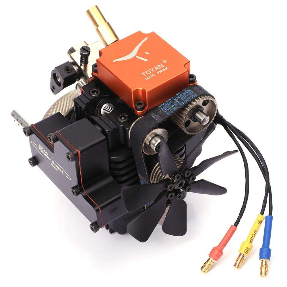 4 Four Stroke Methanol Model Gasoline Model Engine with Starting Motor for 1 10 1 12