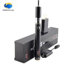 บุหรี่อิเล็กทรอนิกส์EvodบิดII starter kit 1600mah1. 8มิลลิลิตรขดลวดคู่การควบคุมการไหลของอากาศที่สามารถปรับ510เครื่องฉีดน้ำด้ายeบุหรี่