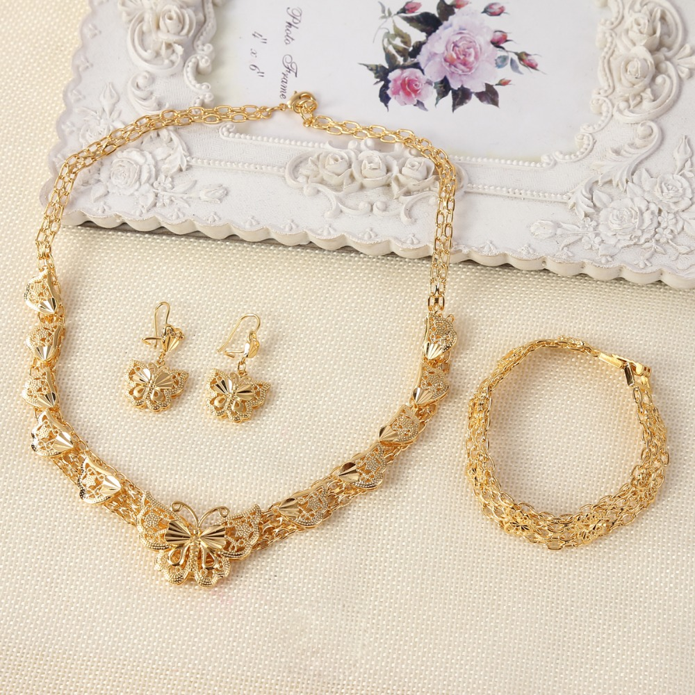 24K gold color Ethiopian fashion women jewelry sets Dubai gold