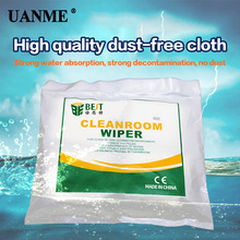 цена на UANME 4X4 9X9 cm 100/400Pcs/Bag Soft Cleanroom wiper cleaning Non Dust Cloth Dust Free Paper Clean LCD Repair Tool