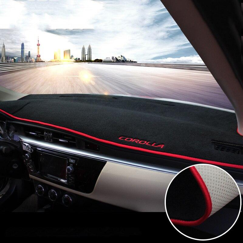 Pour Toyota Corolla 2014 2015 2016 2017 2018 LHD voiture tableau de bord couverture tapis éviter lumière Pad Instrument plate-forme bureau coussin tapis
