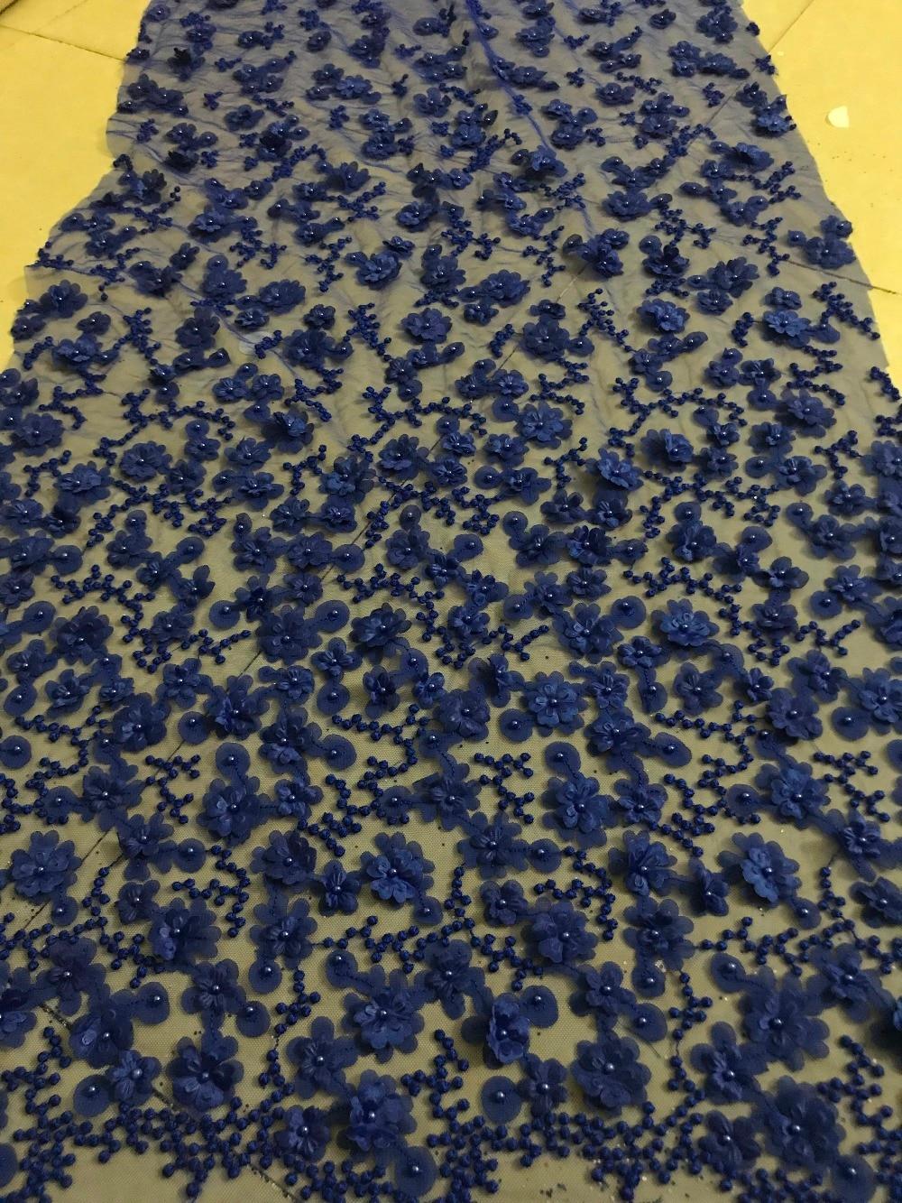 SYJ 4918 mooie 3d bloem net kant franse kralen kant geborduurde tule kant stof-in Kant van Huis & Tuin op  Groep 3