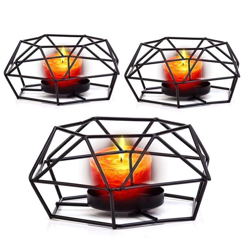 1 шт. геометрический подсвечник скандинавские минималистичные стильные украшения настенные бра соответствующие стальные маленькие подсвечники для чайника