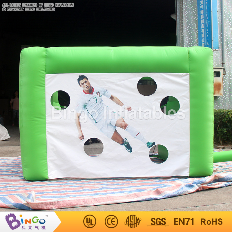 Inflatable Football Gate Inflated Soccer Goal Set Kids Shooting Practise Outdoor Fun Plays Birthday Party 3X2X2M Bingo toy sport