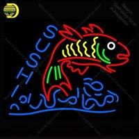Неоновая вывеска для суши еда с рыбой неоновая трубка знак Настоящее стекло декор ручной работы оконные рамы неоновый свет знак Letrero Trade mark