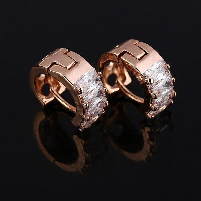 Trendy Design Female Golden Plated Hoop Earring Beautiful Wedding