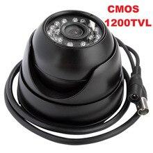 Black color metal case 1/3″CMOS 238+8520 1200TVL 3.6mm lens mini ir dome cctv camera