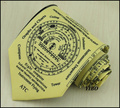 All sorts of flying computing compass round the clock design printed tie men formal 10 cm yellow necktie