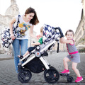 Fashion 3 in 1 Baby Stroller, Multifunction, Suspension, Highview Folding 4-Wheel Pushchair 2 in 1 Stroller, 4 in 1 Pram