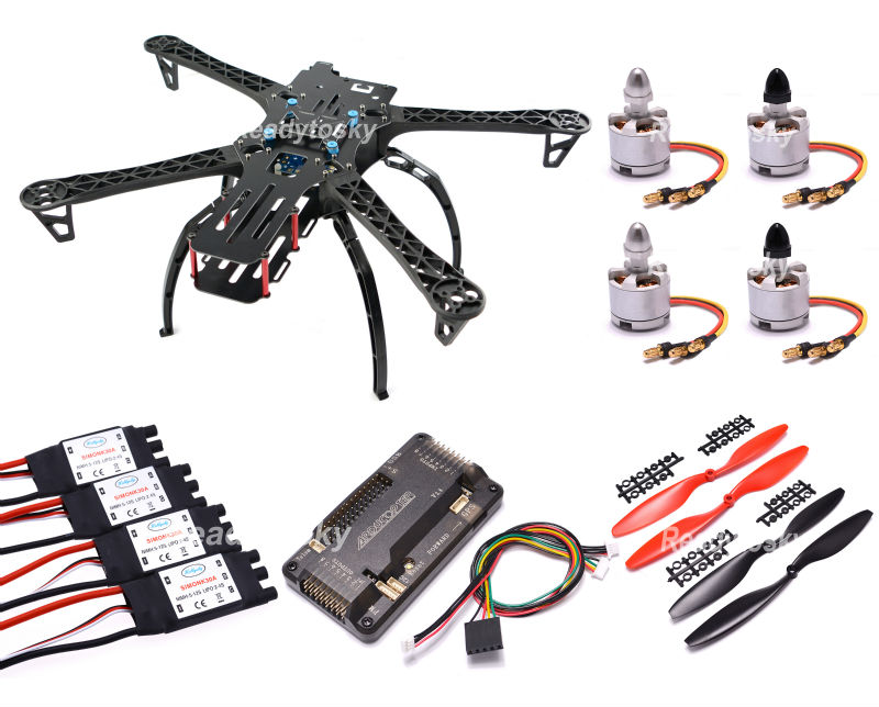 FPV Quadcopter X500 500 Quadcopter Frame 500mm  & Landing gear skids 2212 Motor 30A Simonk ESC for TBS Discovery fpv quadcopter x500 500 quadcopter frame 500mm