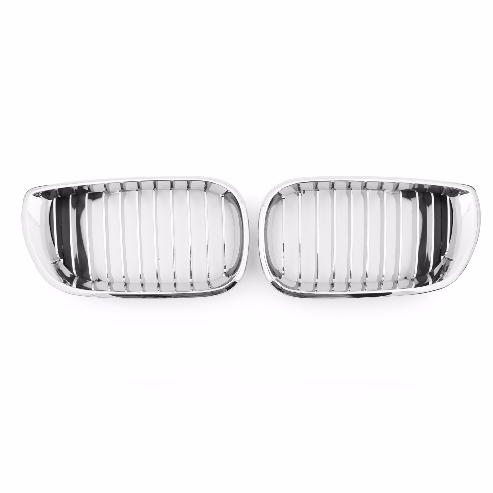 Areyourshop Car Front Kidney Hood Grille Grill Chrome for BMW E46 3 Series 4 Door 2002-2005 1 Pair Fashion Car Exterior Styling for bmw 3 series e46 2door facelifted coupe 2004 2005 2006 carbon fiber black front grille grill left