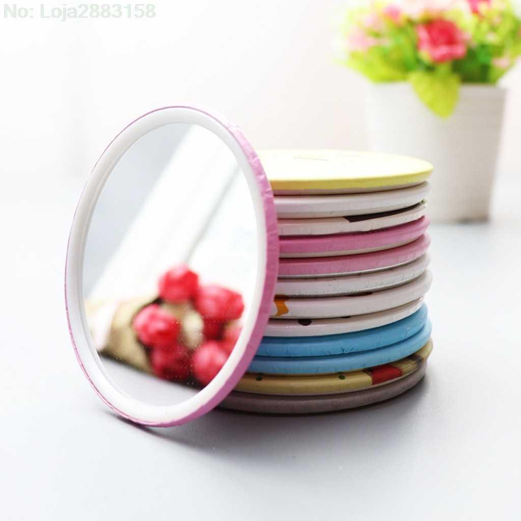 1 шт. милый мультяшный мини портативный круговой ручной зеркальный карманный портативный инструмент для макияжа