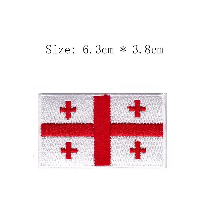 Tunisia Embroidery Flag Patch Red Flag With Star Emblem Shipping For Motorcycle Jacket Coat Wholesale Iron Sew Right Chest Patches Home & Garden