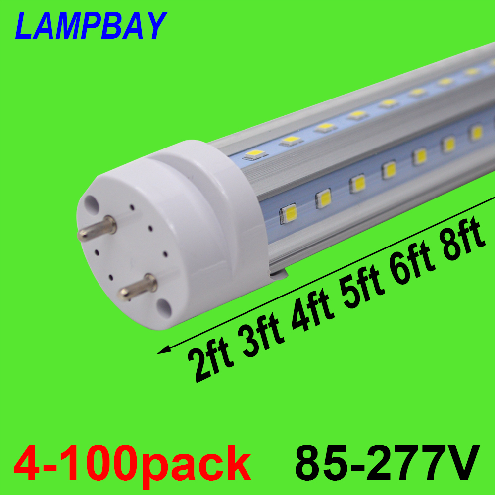 4-100pcs V shape LED Tube Bulb 270 Angle Light 2ft 0.6m 3ft 0.9m 4ft 1.2m 5ft 1.5m 6ft 1.8m T8 G13 Fluorescent Lamp Super Bright t8 g13 led tube light smd 2835 led lamp fluorescent lamp 10w 2ft 15w 3ft 85 265v led tubes warranty 2 years page 6