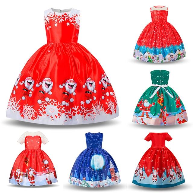 KAVKAS Girl Winter Snowman Children Clothing Princess Dress