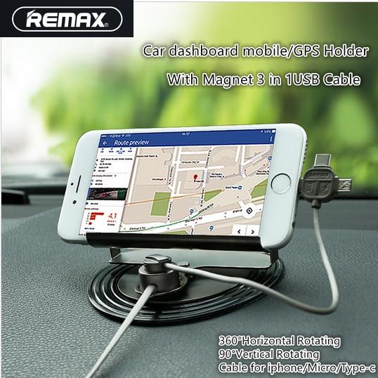 360-Grad-Universal-Autotelefonhalter mit 3-in-1-Magnet-USB-Kabel für - Handy-Zubehör und Ersatzteile