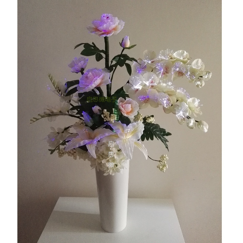 New Wedding decoration led Fairy flower Novelty artistic optical fiber flower used for Christmas New Year party Shop Decoration недорго, оригинальная цена