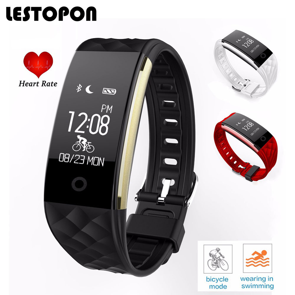 LESTOPON Fitness Tracker Smart Wristbands Band With Heart Rate Monitor Pedometer Call Reminder Fashion Bracelet For