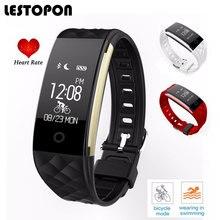Lestopon фитнес-трекер Смарт-браслеты группы с монитор сердечного ритма шагомер напоминание браслет для iOS и Android
