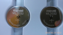 2PCS/LOT New Original Maxell ML2032 3V Rechargeable lithium battery button cell (ML2032)