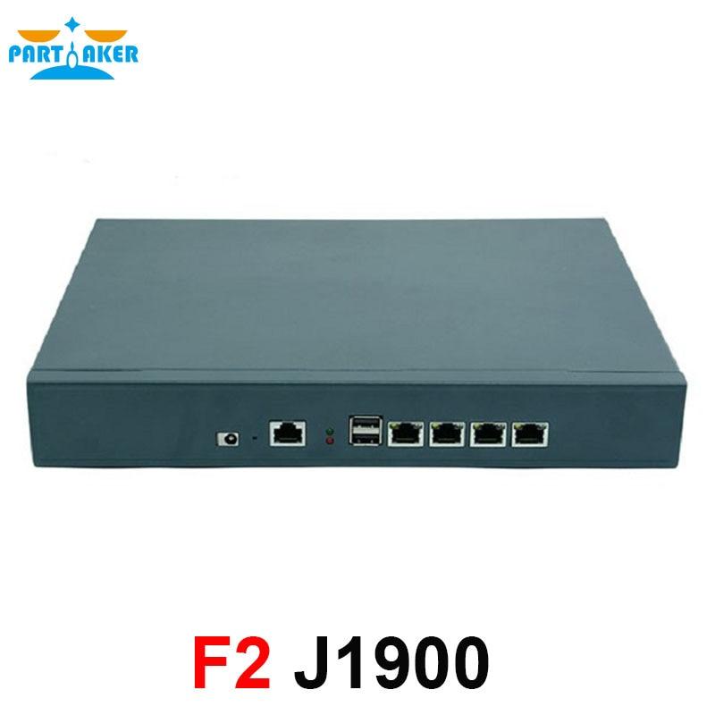 1U VPN Firewall Appliance F2 For 4 LAN Support Intel Celeron J1900 Processor Server Network Router 2GB Ram 8GB SSD Pfsense