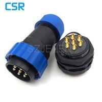 SD28TP-ZM, không thấm nước cáp kết nối 7 pin cắm và ổ cắm, IP67, nghiệp Chỉnh Núi cáp nối chống thấm nước 7pin