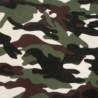 Artificial Synthetic PVC Camouflage Printed Raw Leathers Material