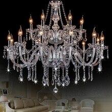 Modern Chandelier Crystal Lighting Cristal Lamp Chandeliers Hanging Lights Clear Glass Chandelier LED Light for Home Restaurant