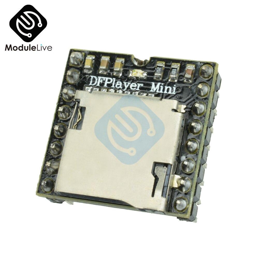 1Pcs DFPlayer Mini MP3 Player Module MP3 Voice Decode Board For Arduino Supporting TF Card U-Disk IO/Serial Port/AD
