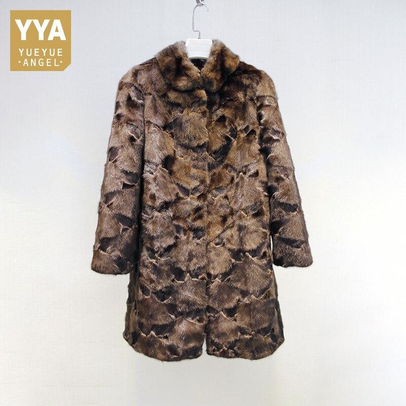 Nieuwste Collectie Van Winter Luxe Vrouwen Real Mink Fur Coat Warm Elegant Party Overjas Natuurlijke Bont Vintage Banket Dames Uitloper Jassen Plus Size Geweldige Prijs