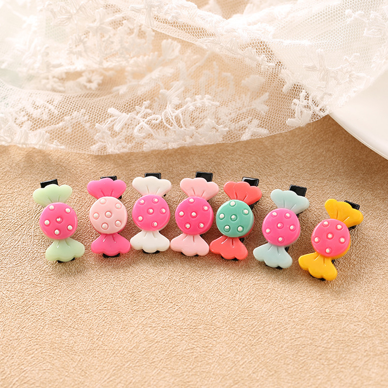 5 Pcs/Set Fashion Girls Hair Pins Clips Set Kids Hairpins Barrettes Cute Candy Shape Children   Headwear   Hair Accessories