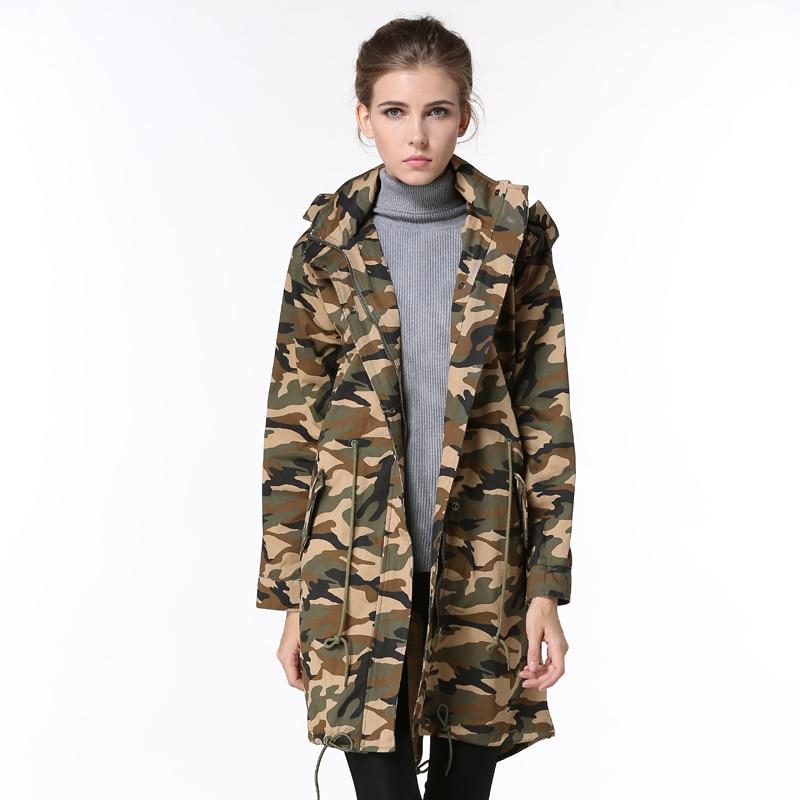 Estilo militar de moda chaqueta larga para mujeres nuevo
