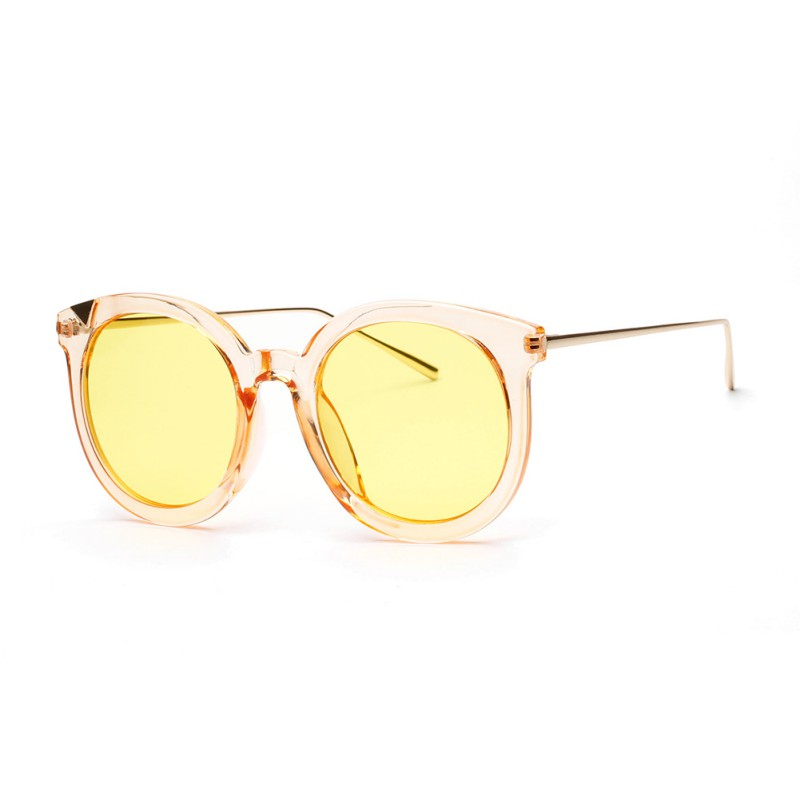 Vintage Women Steampunk Gold Sunglasses Brand Design Round Sunglasses Oculos de sol UV40 ...