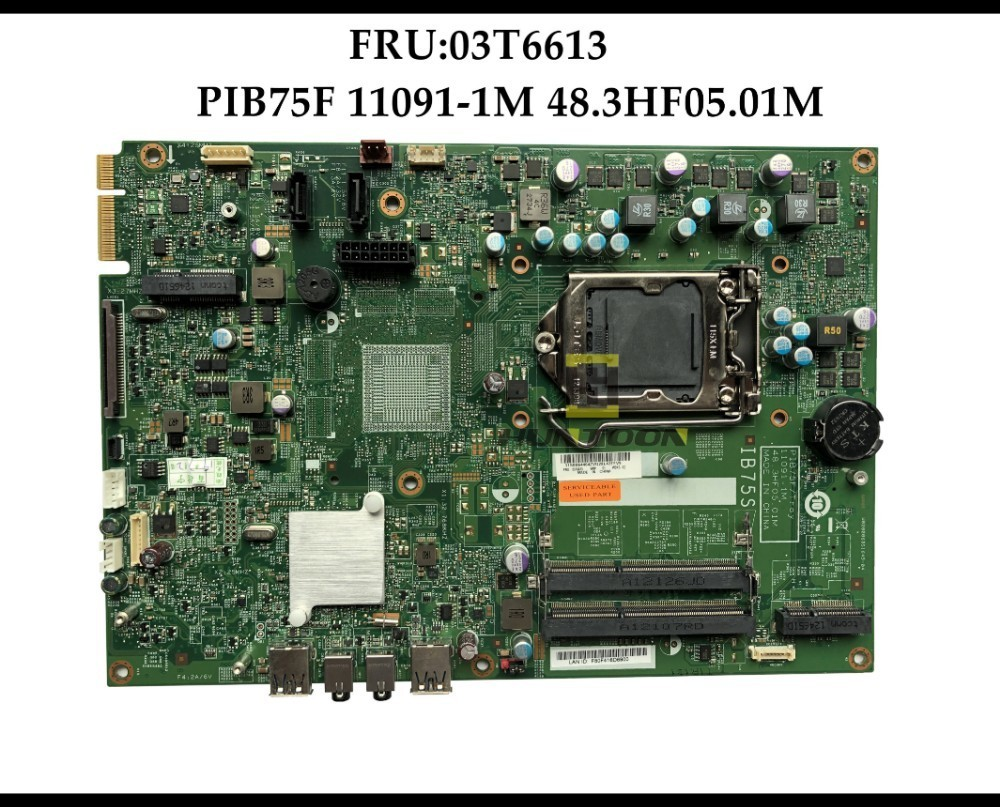 High quality Genuine For Lenovo Lenovo ThinkCentre Edge 92Z motherboard LGA1155 FRU 03T6613 PIB75F 11091 1M