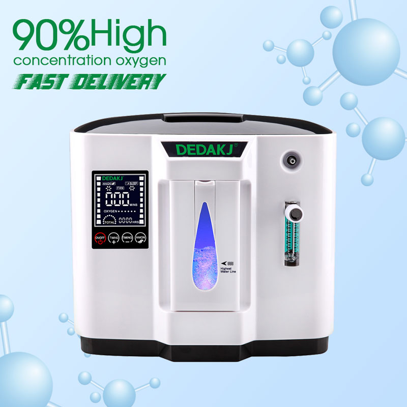 DEDAKJ DDT-1A/DDT-1B AC110V/220 V ajustable Portabl concentrador de oxígeno máquina generador purificador de aire casa no batería