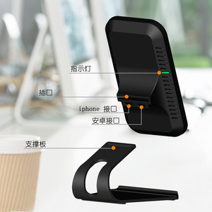 Image 5 - Qi Fast Wireless Charger For iPhone X XS Max XR Charger USB 10W Charging chargeur induction stand Dock For Samsung Galaxy S8 S9