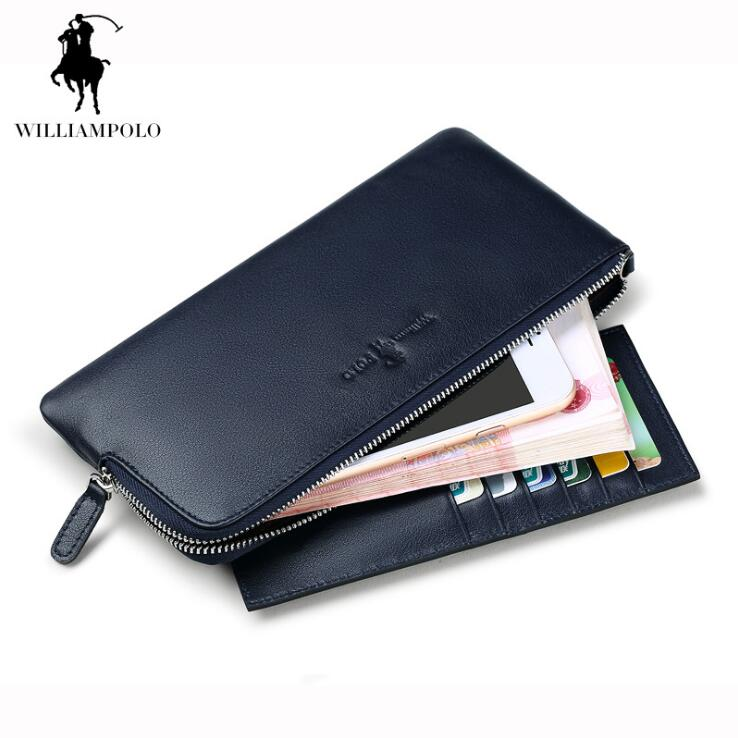 Williampolo New Men Wallets Genuine leather Thin Section Wallet Business Coin Purse Ultrathin wallet williampolo genuine leather men wallets business coin purse men hand bags zinc alloy zipper wallet