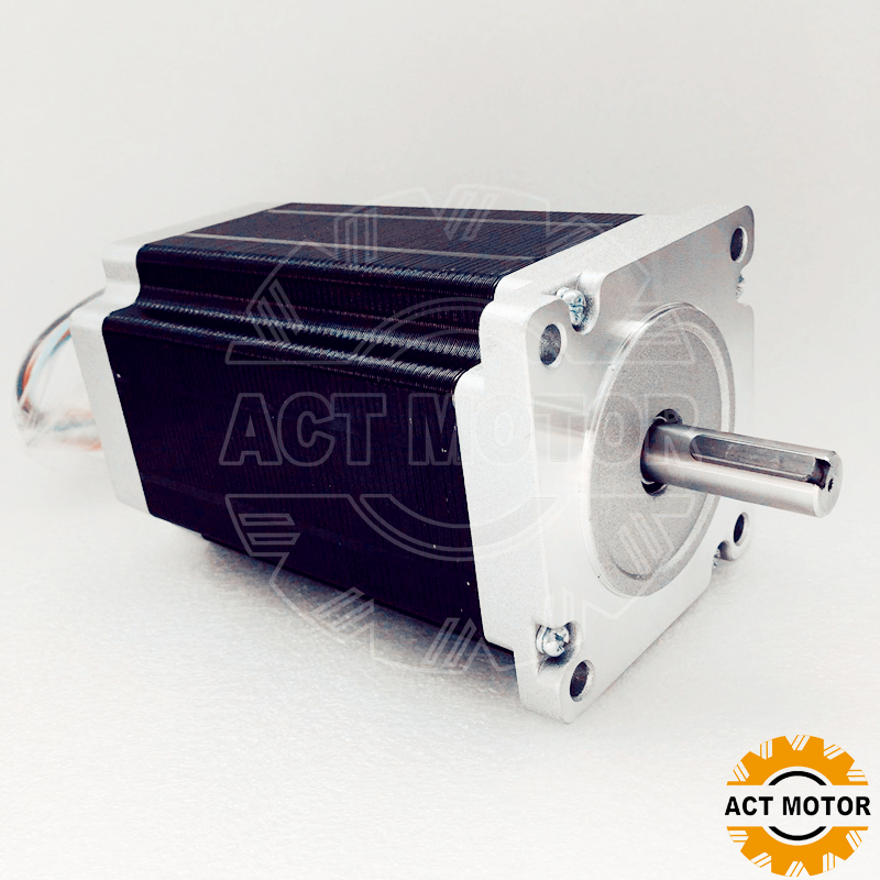 Shipping from China!ACT Motor 1PC Nema34 StepperMotor 34HS5460D14L34J5-1 1700oz-in 150mm 6A 4-Lead 2Phase Engraving Machine shipping from china act motor 1pc nema34 brake motor 34hs5460d14l34j5 s8 1140oz in 150mm 6a 4 lead 2phase engraving machine