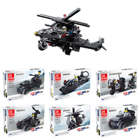 2018 6 Kinds Style Sets legoinglys military City Police SWAT Army Soldiers With Weapons Building Blocks Toys for children gift