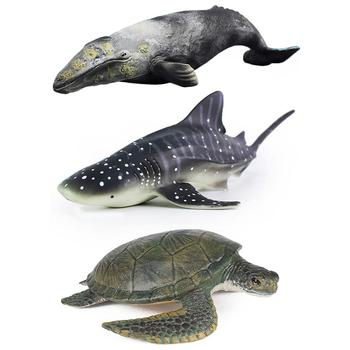Gran tamaño Emulational gris ballena tortuga mar modelo Animal ...