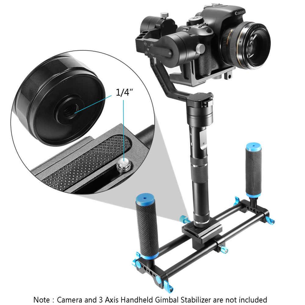 Neewer Алюминий из алюминиевого сплава с двумя рукоятками для Canon, Nikon, sony, sony, Olympus, Fujifilm Zhiyun Feiyu 3 оси HandheldGimbal стабилизатор